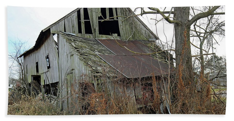 Barn Bath Sheet featuring the photograph Out Back by Steve Gass