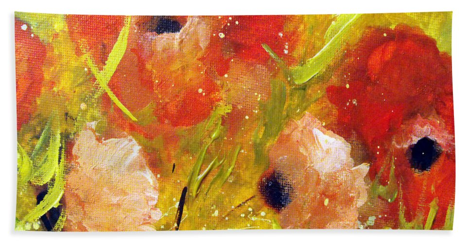 Decorative Hand Towel featuring the painting Out With The Sun by Ruth Palmer