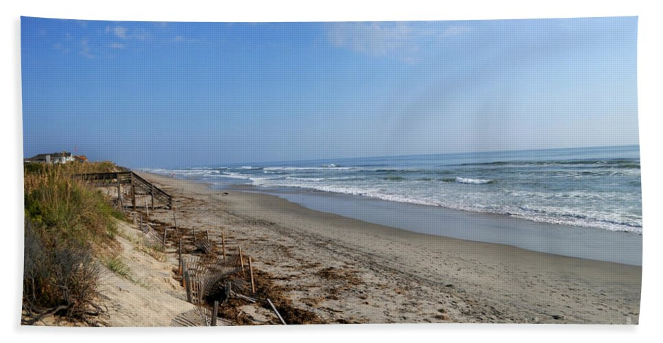 Digital Fine Art Bath Sheet featuring the photograph Outer Banks Morning by Paulette B Wright