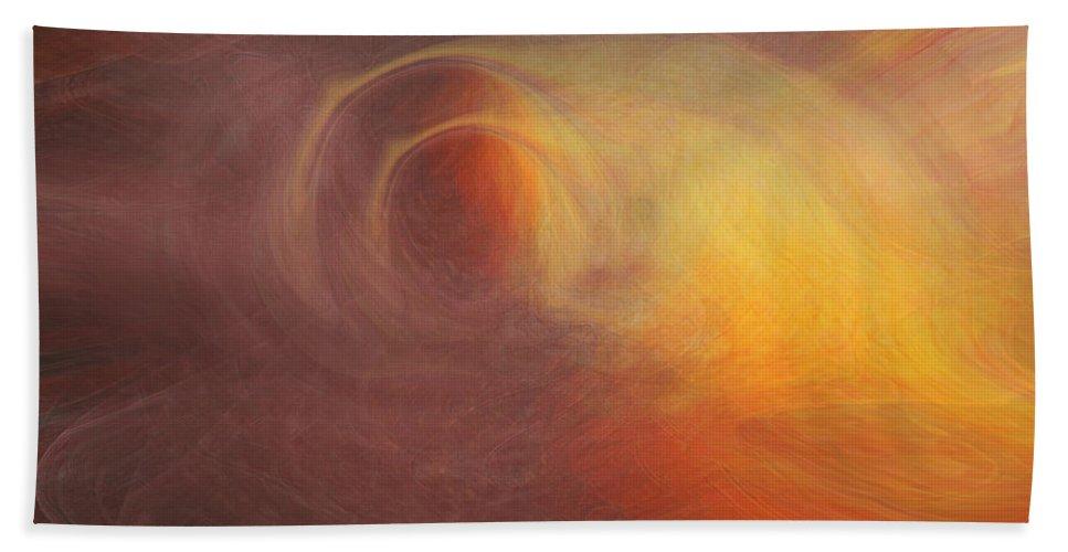 Space Art Bath Sheet featuring the digital art Outerspace by Linda Sannuti
