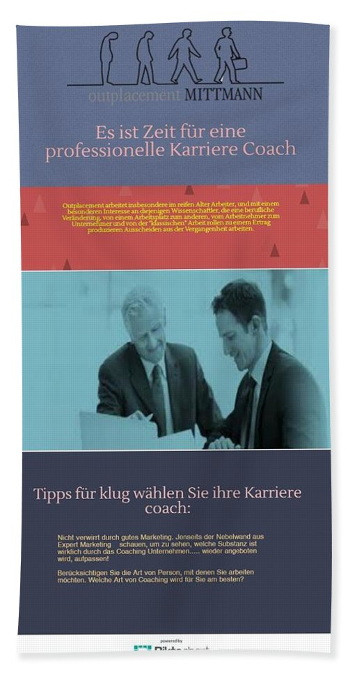 Karrierecoaching München Bath Sheet featuring the photograph  by OutplacementMittMann