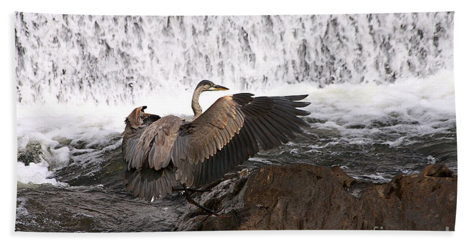 Blue Hand Towel featuring the photograph Over The Rocks We Go by Deborah Benoit