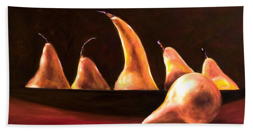 Still Life Hand Towel featuring the painting Overboard by Shannon Grissom