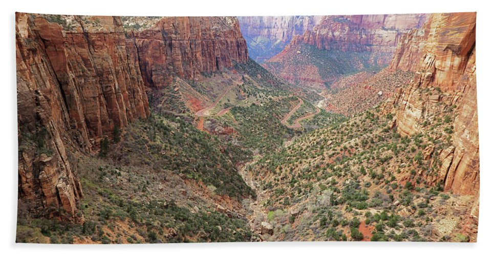 Landscape Hand Towel featuring the photograph Overlook Canyon by Sue Collura