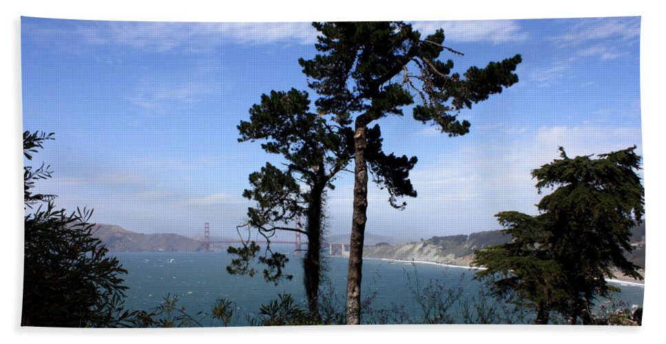 San Francisco Bay Hand Towel featuring the photograph Overlooking The Bay by Carol Groenen