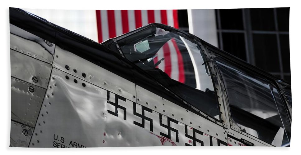 P 51 Mustang Hand Towel featuring the photograph P 51 Mustang by David Lee Thompson