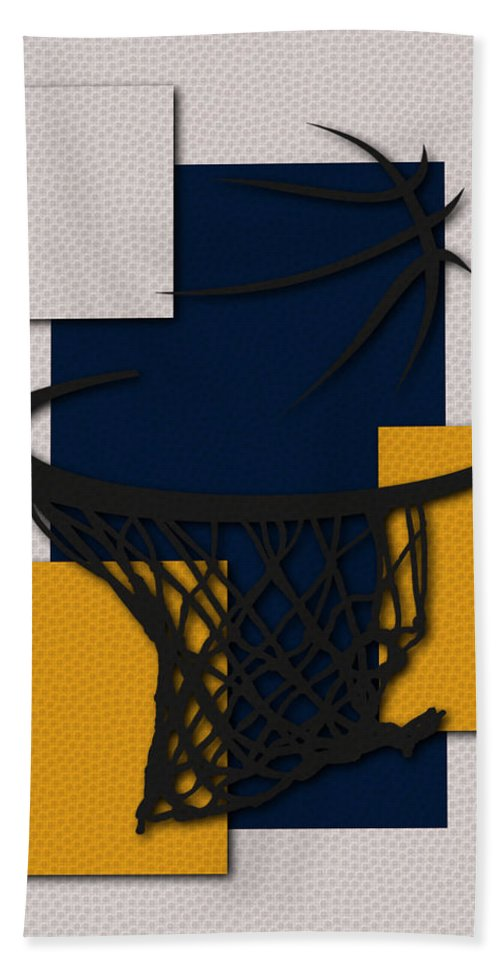 Pacers Bath Sheet featuring the photograph Pacers Hoop by Joe Hamilton