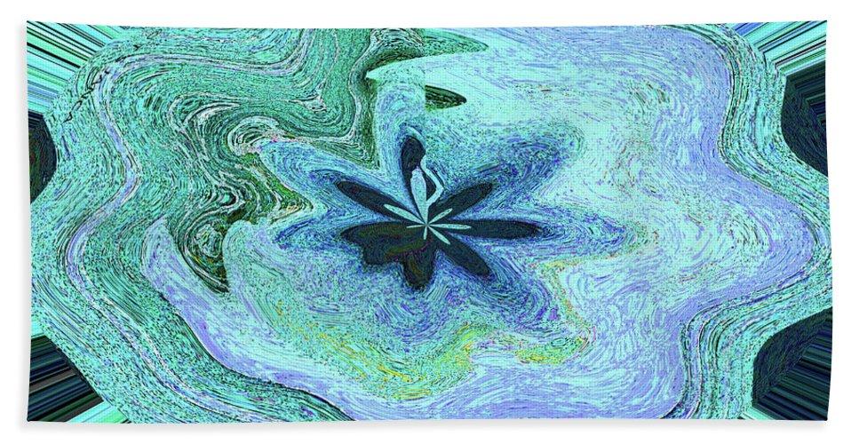 Pacific Ocean After Warping Bath Sheet featuring the digital art Pacific Ocean After Warping by Tom Janca