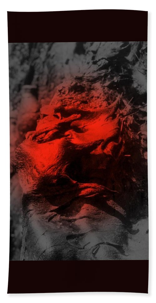 Lava Hand Towel featuring the digital art Pahoehoe Lava by Dina Holland