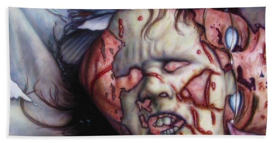 Pain Bath Sheet featuring the painting Pain by James W Johnson
