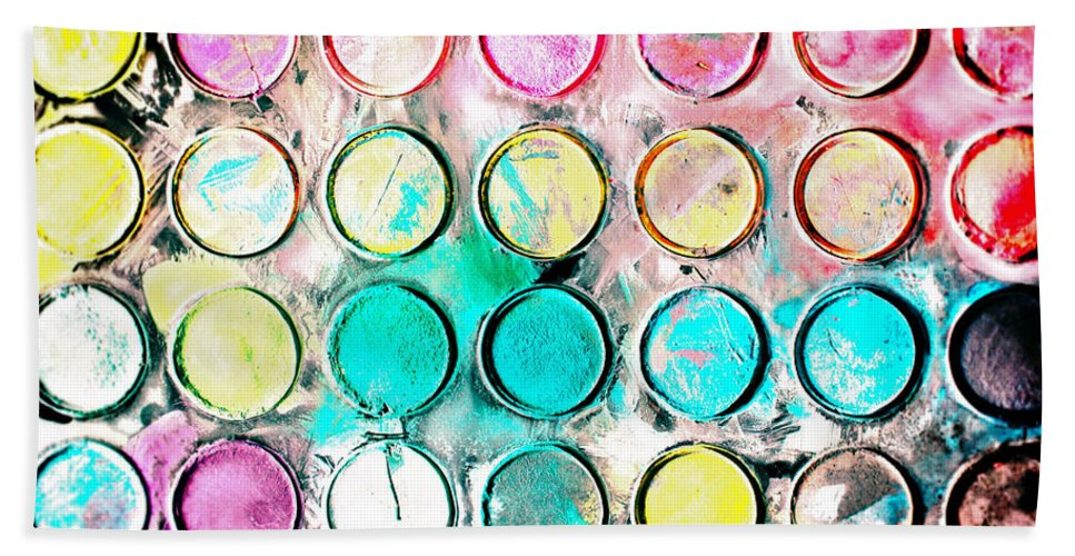 Art Bath Towel featuring the photograph Paint Colors by Tom Gowanlock