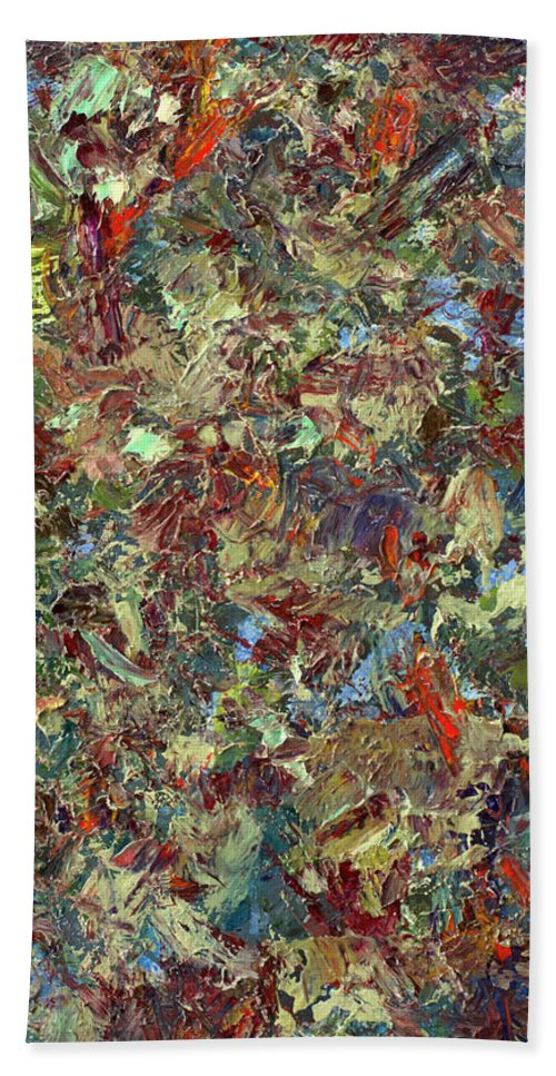 Abstract Bath Sheet featuring the painting Paint Number 21 by James W Johnson