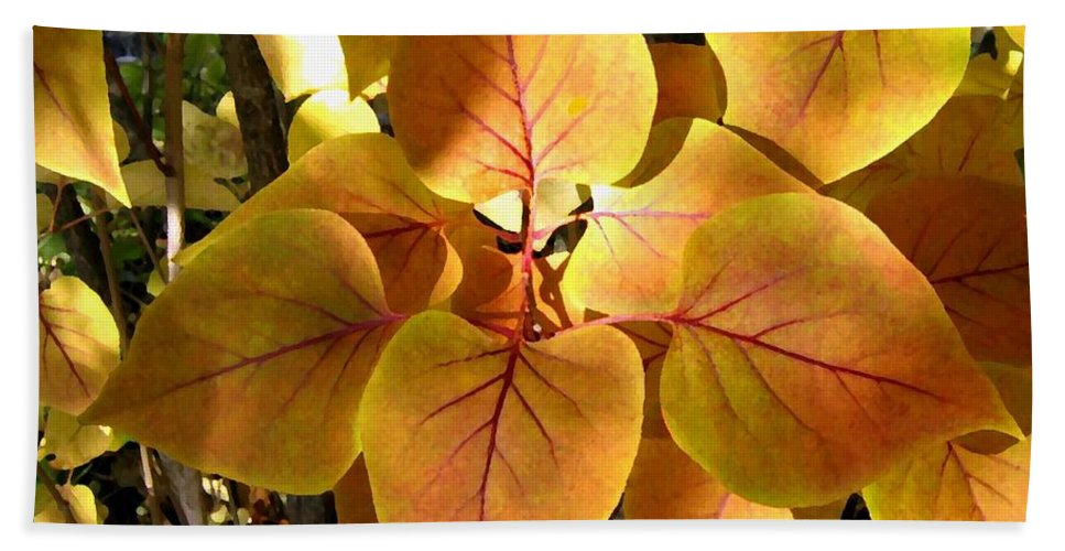 Autumn Hand Towel featuring the digital art Painted Autumn Lilac by Will Borden