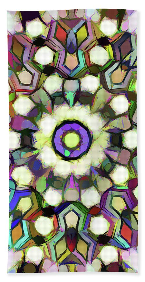 Mandala Hand Towel featuring the painting Painting by Jeelan Clark