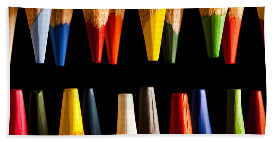 Art Hand Towel featuring the photograph Painting Pencils by Marc Garrido