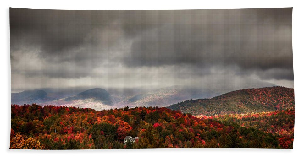 Autumn Foliage New England Bath Sheet featuring the photograph Painting The Hills In Autumn Colors by Jeff Folger