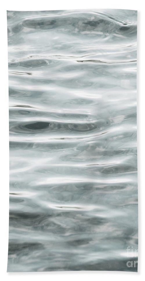 Water Hand Towel featuring the photograph Pale Aqua Water Ripples by Jim And Emily Bush