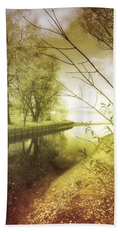 River Hand Towel featuring the photograph Pale Reflections Of Life by Tara Turner