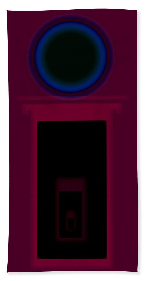 Palladian Hand Towel featuring the painting Palladian Magenta by Charles Stuart