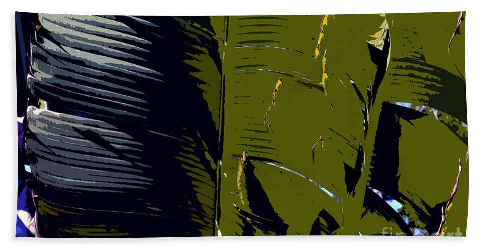 Palm Fronds Hand Towel featuring the painting Palm Fronds by David Lee Thompson