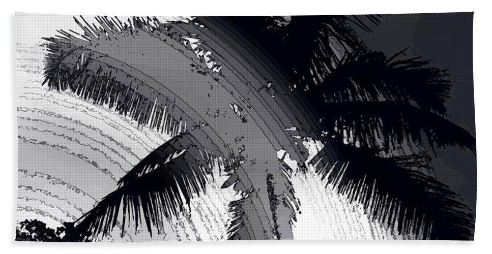 Palm Bath Sheet featuring the photograph Palm In Grey by Ian MacDonald