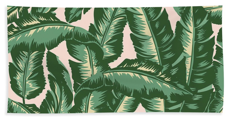 Leaves Bath Towel featuring the digital art Palm Print by Lauren Amelia Hughes