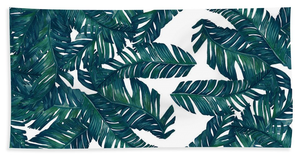 Summer Hand Towel featuring the digital art Palm Tree 7 by Mark Ashkenazi