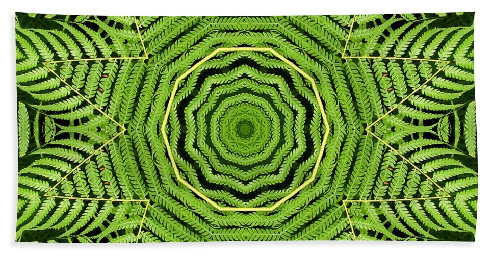 Palm Tree Bath Towel featuring the photograph Palm Tree Kaleidoscope Abstract by Rose Santuci-Sofranko
