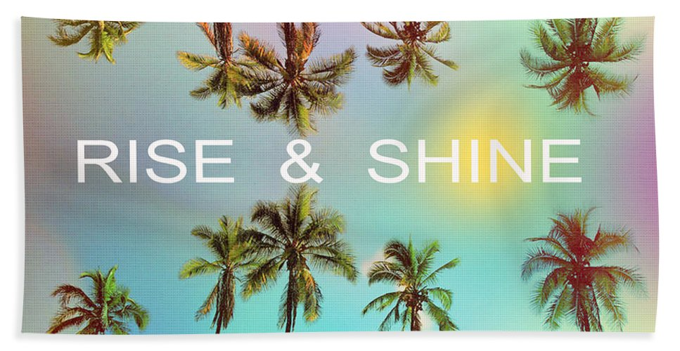 Venice Beach Bath Towel featuring the photograph Palm Trees by Mark Ashkenazi
