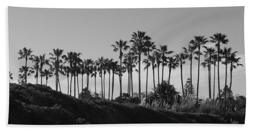 Landscapes Hand Towel featuring the photograph Palms by Shari Chavira
