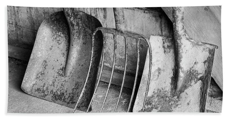 Tools Bath Sheet featuring the photograph Palouse Farm Tools 4348 by Bob Neiman