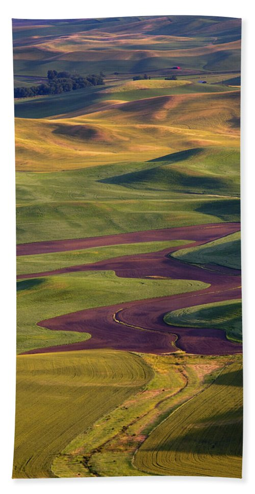 Palouse; Hills Bath Towel featuring the photograph Palouse Hills by Mike Dawson