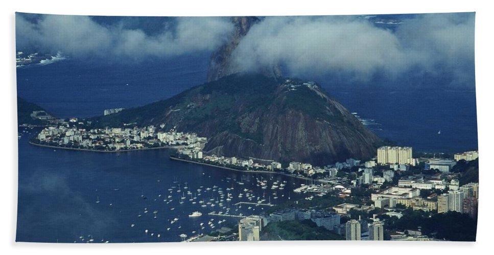 South America Hand Towel featuring the photograph Pan De Azucar - Rio De Janeiro by Juergen Weiss