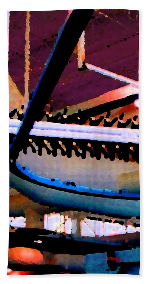 Abstract Bath Towel featuring the photograph Panel Three From Star Factory by Steve Karol