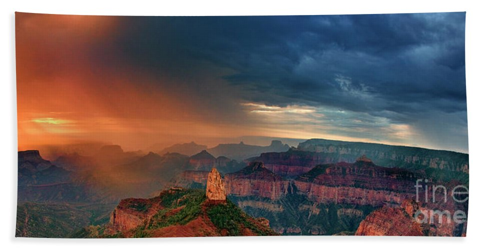 North America Hand Towel featuring the photograph Panorama North Rim Grand Canyon Arizona by Dave Welling
