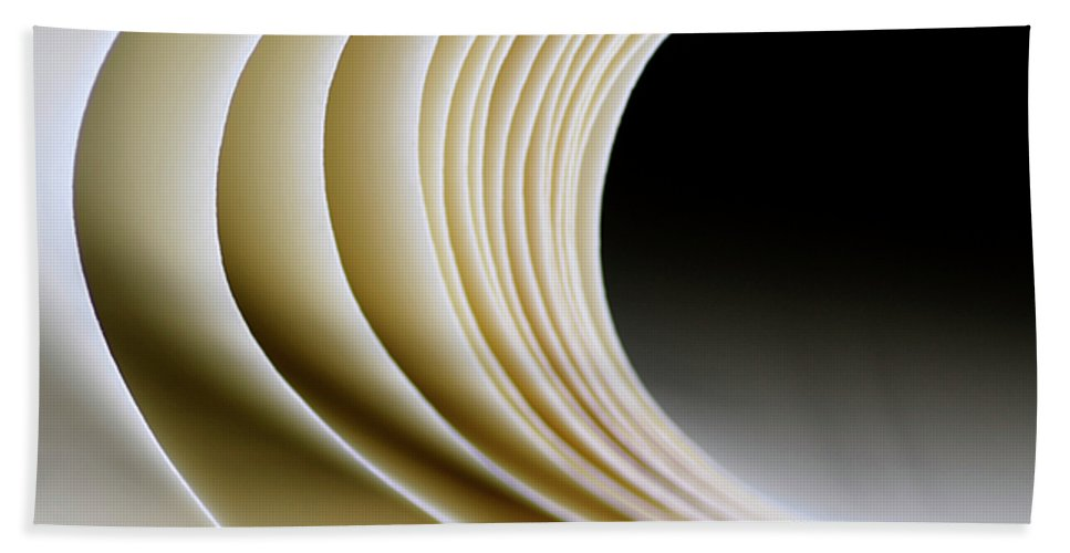 Paper Hand Towel featuring the photograph Paper Curl by Pedro Cardona Llambias