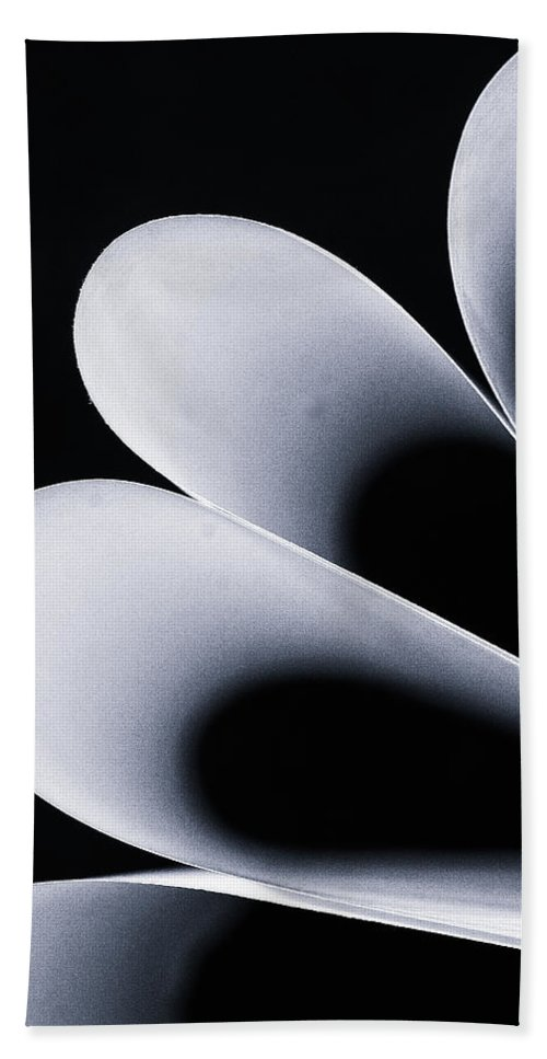 Paper Hand Towel featuring the photograph Paper Curls by Kevin Towler