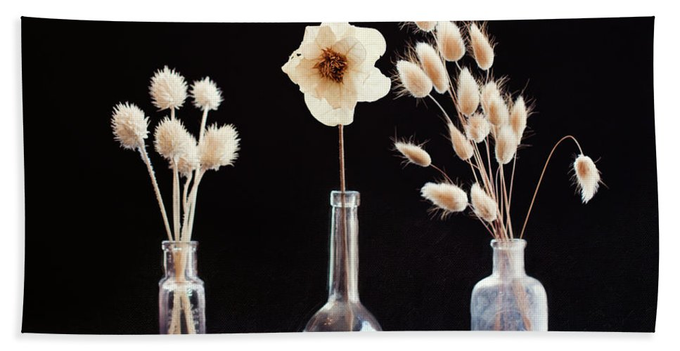 Still Life Hand Towel featuring the photograph Paper Flowers by Sue Collura