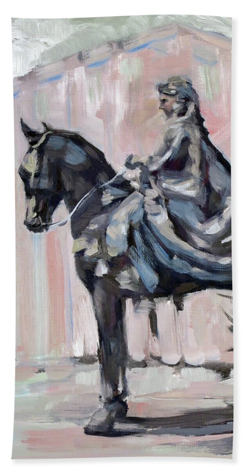 Horse Bath Sheet featuring the painting Parade by Lara Branca