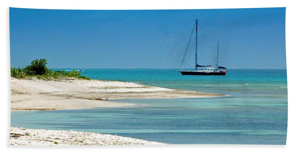 Boat Hand Towel featuring the photograph Paradise Found by Debbi Granruth