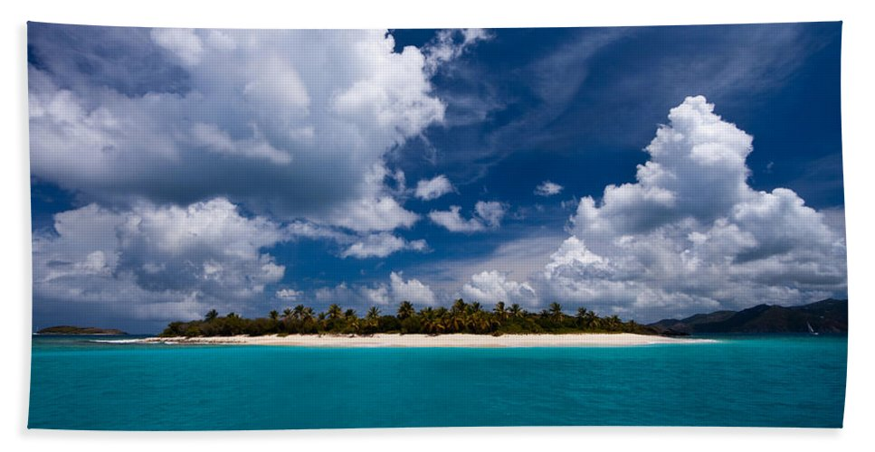 3scape Hand Towel featuring the photograph Paradise Is Sandy Cay by Adam Romanowicz