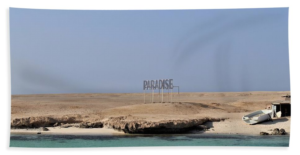Paradise Hand Towel featuring the photograph Paradise Island by Dave Lees