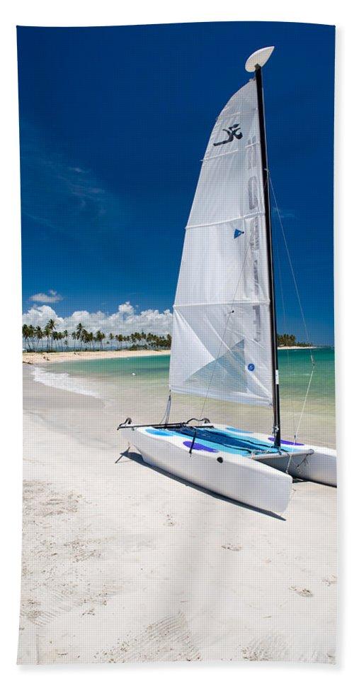 Island Bath Sheet featuring the photograph Paradise Island by Sebastian Musial
