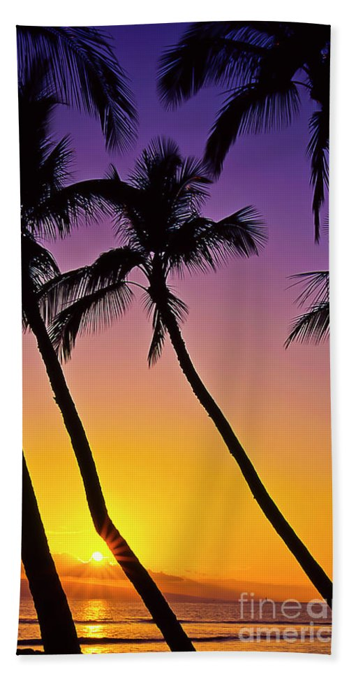 Sunset Hand Towel featuring the photograph Paradise by Jim Cazel