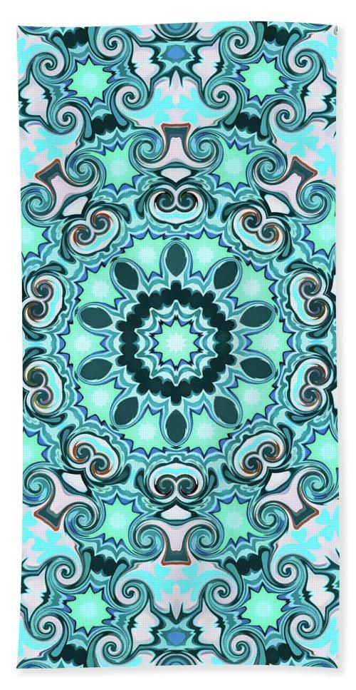 Mandala Art Hand Towel featuring the painting Paradise by Jeelan Clark