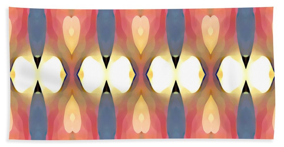 Abstract Art Bath Towel featuring the painting Paradise Repeated by Amy Vangsgard