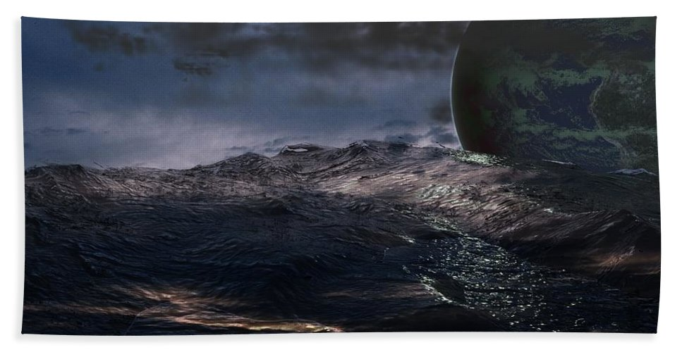 Creation Hand Towel featuring the digital art Parallel Universe In Discord by James Barnes