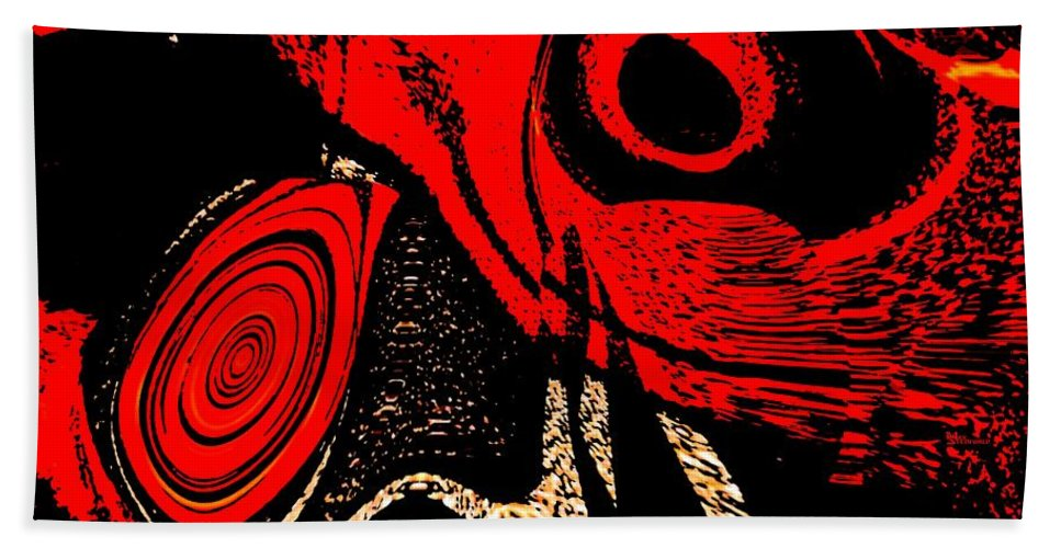 Delusion Hand Towel featuring the digital art Paranoid by Max Steinwald
