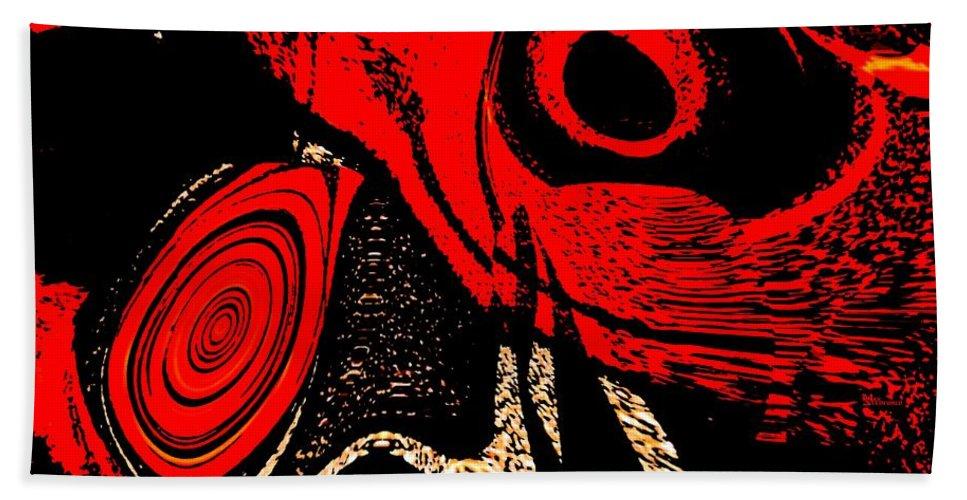 Delusion Bath Sheet featuring the digital art Paranoid by Max Steinwald