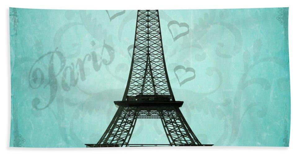 Paris Hand Towel featuring the photograph Paris Collage by Jim And Emily Bush